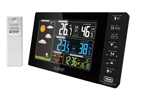 Station météo La Crosse Technology WS6827-BLA - écran couleurs, charge USB