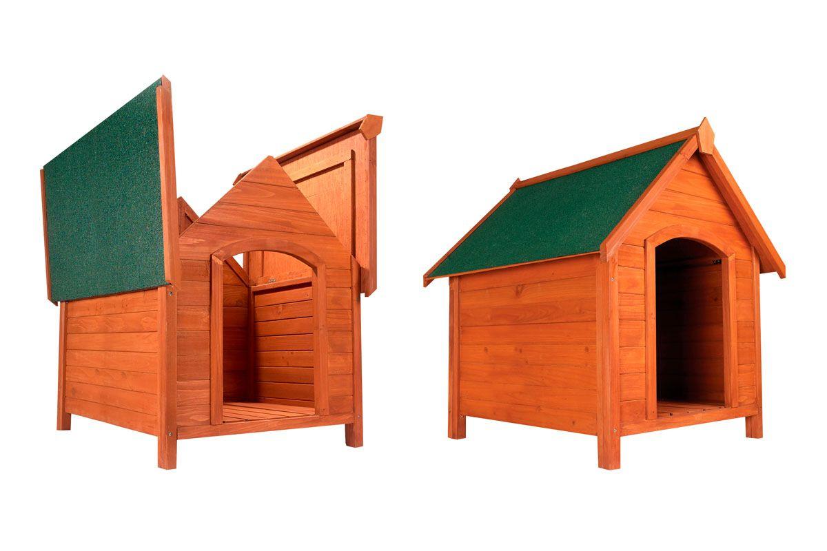 Niche pour chien Médor Palace XL - en sapin, 83x74x65.5 cm