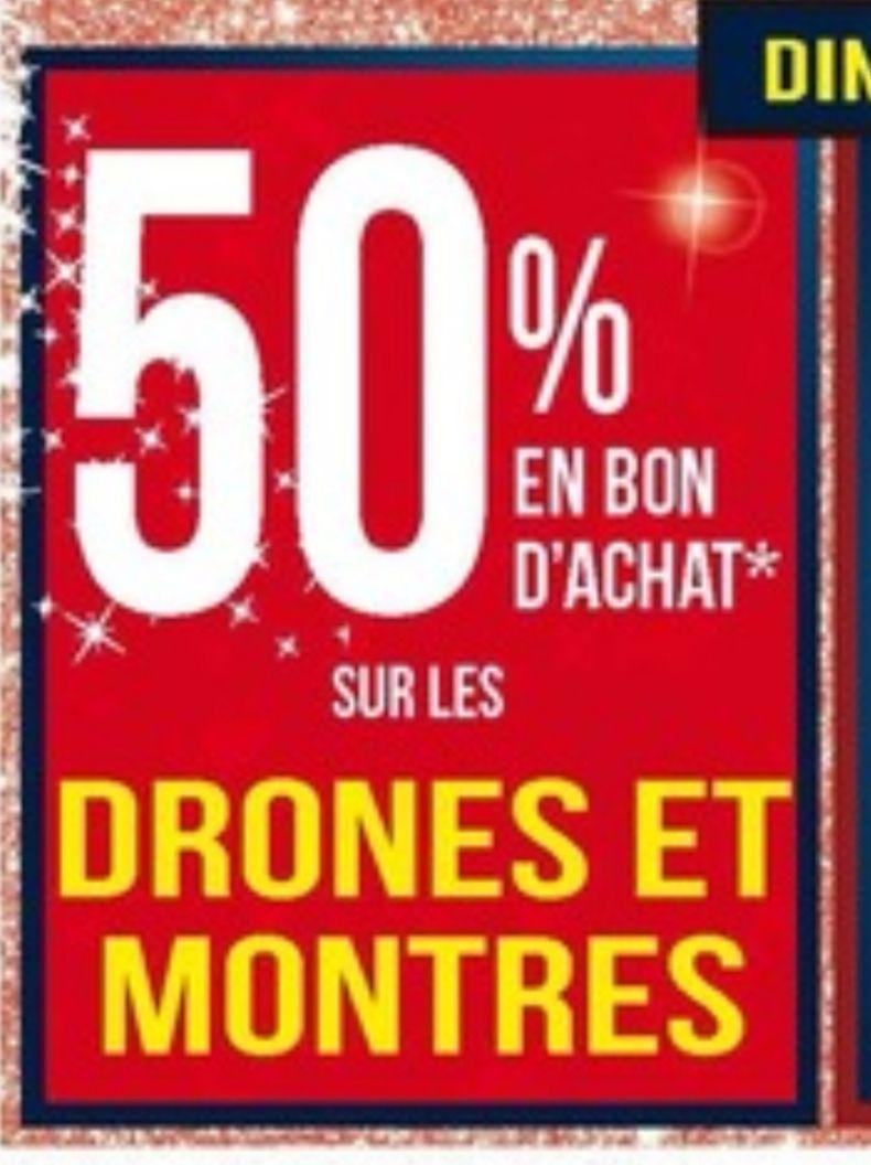 50% en bon d'achat sur les drones & montres connectées (hors Apple Watch) - Osny (95)