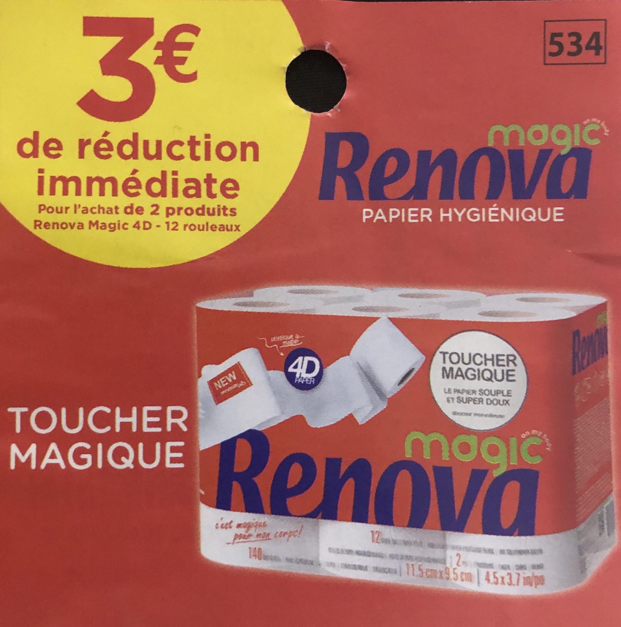 Lot de 2 paquets de 12 rouleaux de papier-toilette Renova Magic (via BDR) - Créteil (94)