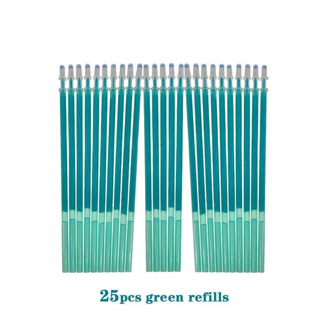 25 recharges pour stylos à encre effaçable (plusieurs coloris)