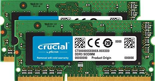 KIT RAM Crucial CT2K102464BF186D 16Go Kit (8Gox2) - SODIMM, 1866 MHz (Vendeur tiers)