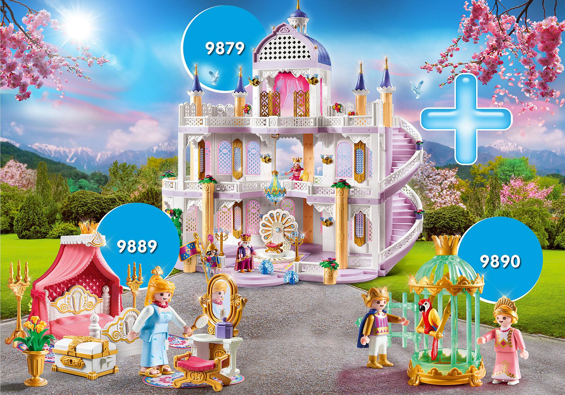 Pack Playmobil Maxiplaymo - Palais des merveilles (9879), Enfants royaux (9890), Chambre de princesse (9889)