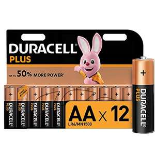 Pack de 12 piles Duracell Plus - AA
