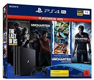 Pack Console Sony PS4 PRO (1 To) + The last of us remastérisée et quadrilogie Uncharted
