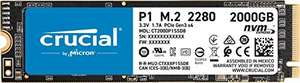 SSD interne M.2 NVMe Crucial P1 (QLC, DRAM) - 2 To