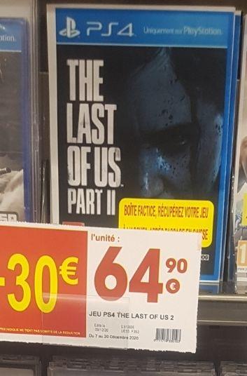 Sélection de jeux PS4/Xbox/Switch en promotion (Ex: The Last of Us 2 à 31.41€ via l'application Cmax) - Brest (29)