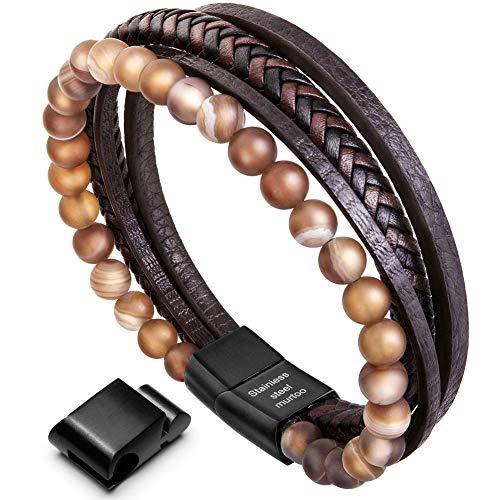 Bracelet pour homme Murtoo - en cuir, 22.5 cm (vendeur tiers)
