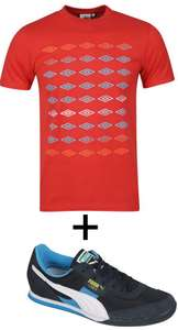 Chaussures Puma Trainers + T-shirt Umbro