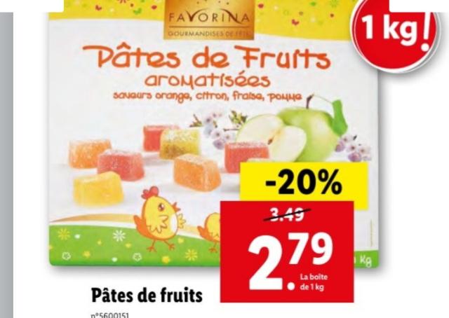 Pâtes de fruits aromatisées