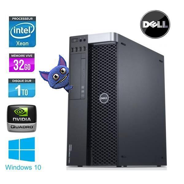 PC Dell Precision T3610 XEON E5-1620 - 3.7GHZ, 32GO, 1TO, Reconditionné (Vendeur TIers)