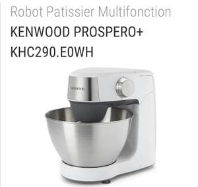 Robot Patissier Multifonction KENWOOD PROSPERO + KHC290.E0WH