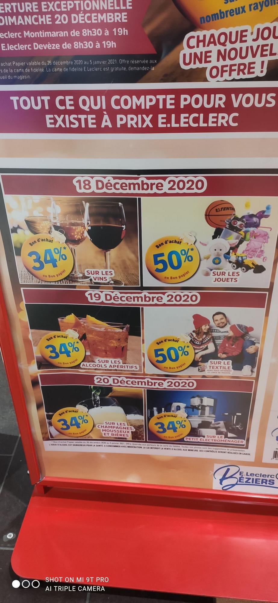 50% offerts en bons d'achat sur les jouets - Beziers (34)