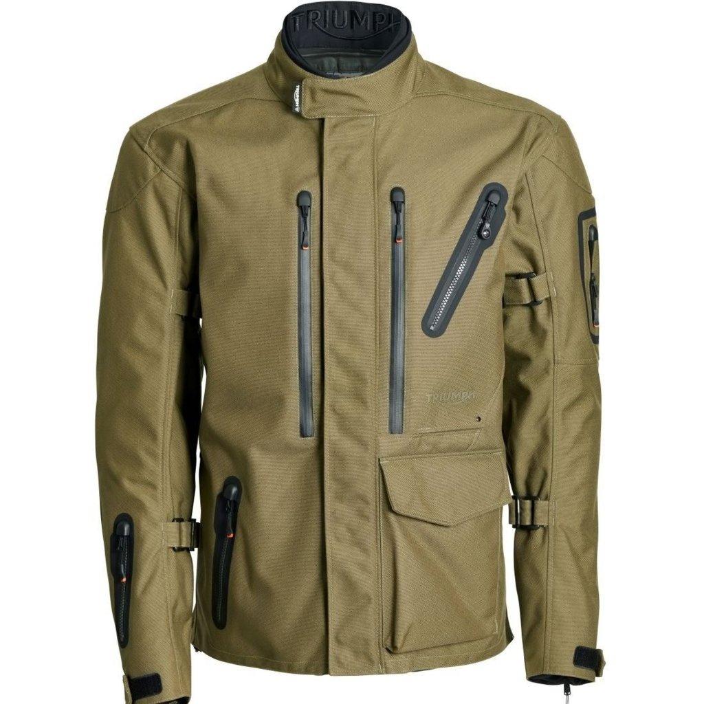 Veste de moto Triumph Beinn GTX Jacket (vert, du S au XXL) - WorldOfTriumph.com