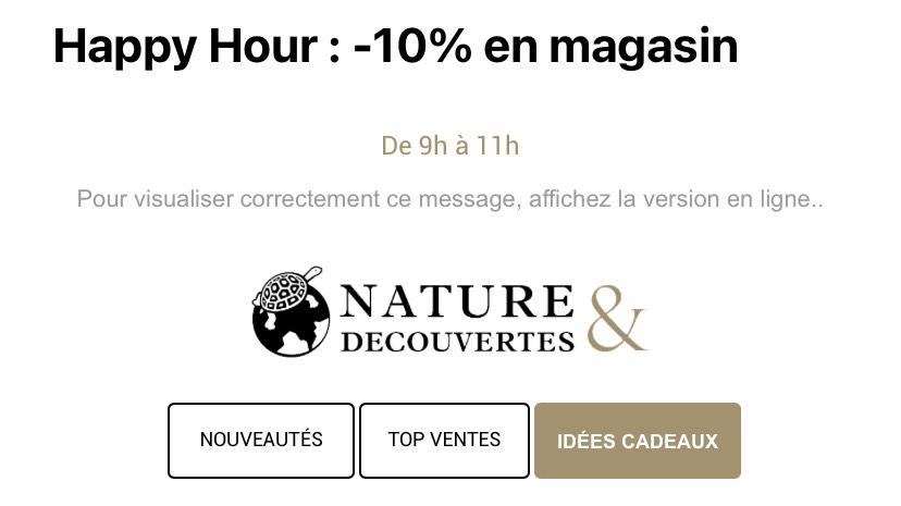 [ De 9h à 11h] 10% de réduction en magasin