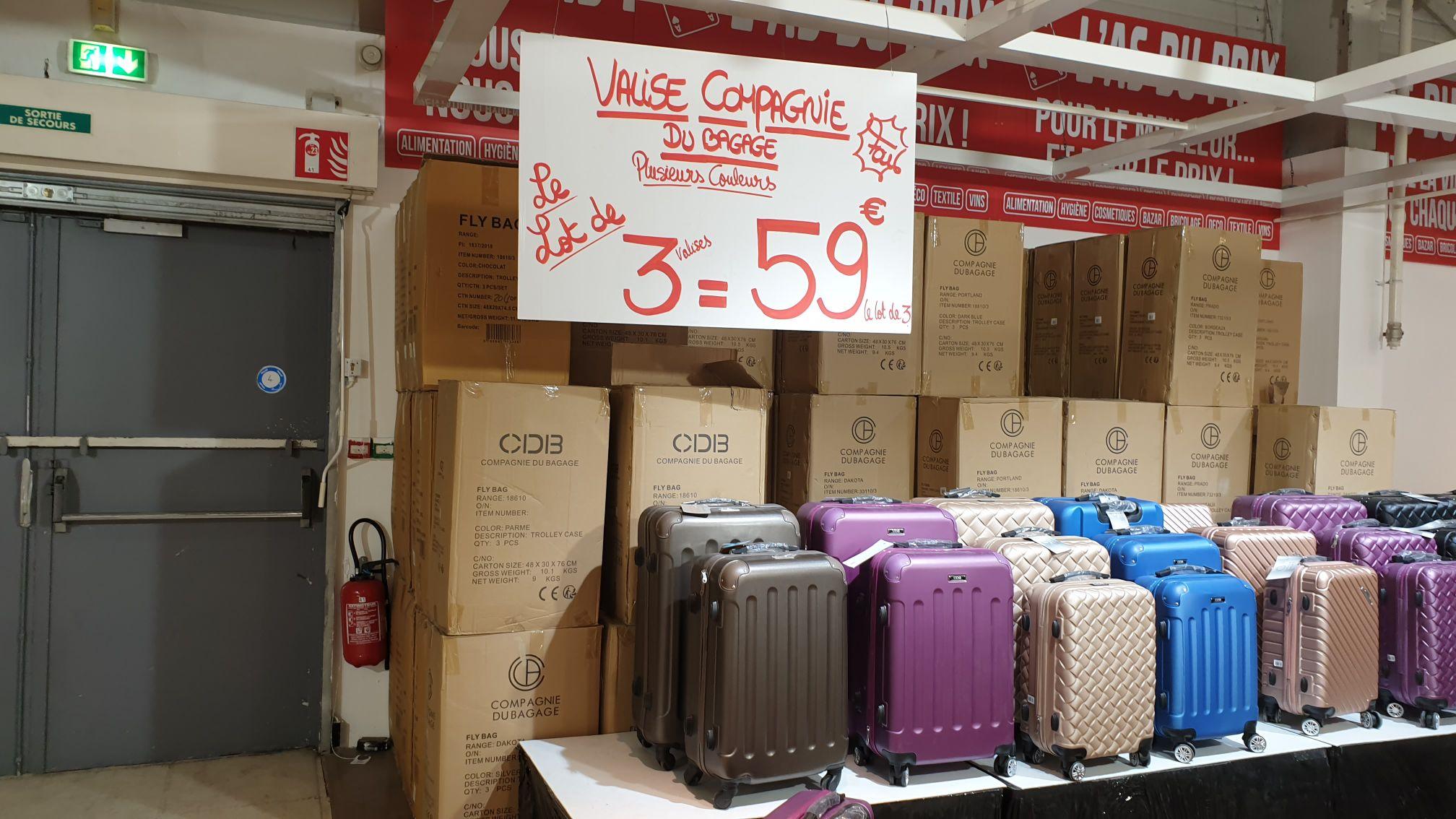 Set de 3 valises (plusieurs coloris) - L'AS du prix Sainte Geneviève des bois (91)