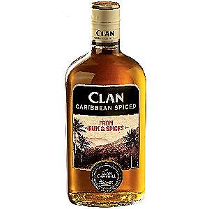 Bouteille de Rhum épicé Clan Caribbean - 70cl