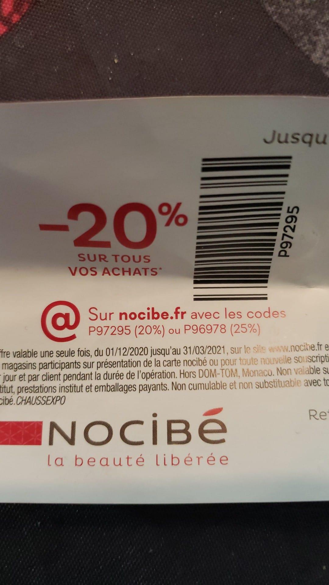 20% de réduction sur tous vos achats