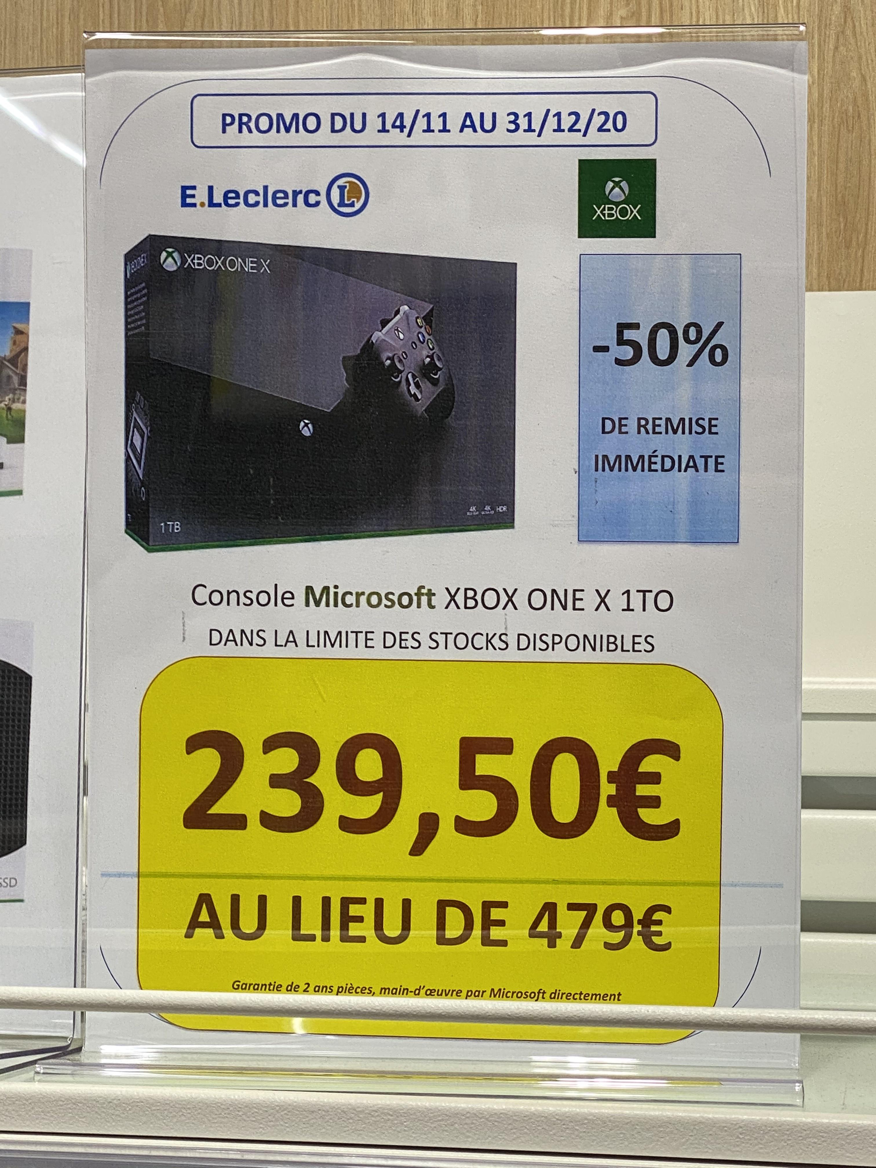 Console Microsoft Xbox One X (1 To) - La Ville-aux-Dames (37)