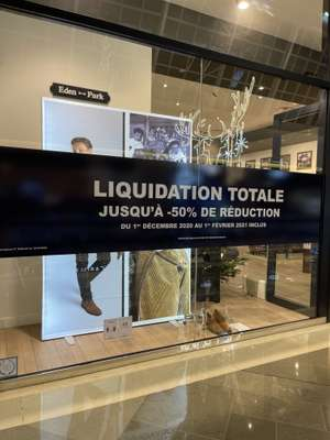 Liquidation totale: Sélection de vêtements en promotion - Éden Park Marseille (13)