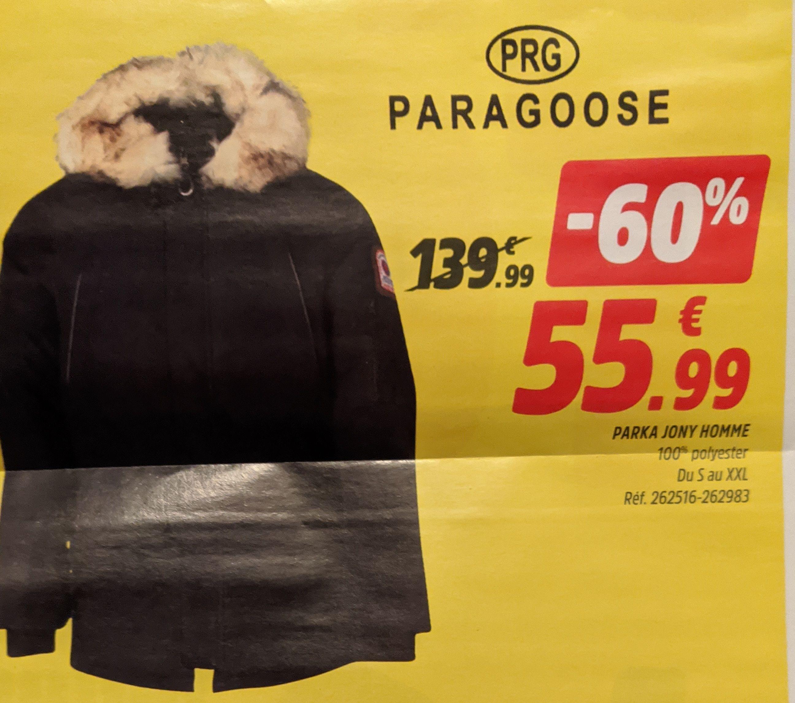 Sélection d'articles en promotion - Ex: Parka Paragoose Jony pour Homme- Illkirch (67)