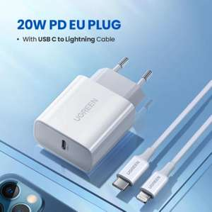 Chargeur rapide Ugreen - PD 20W, QC4.0 - USB-C vers Lightning