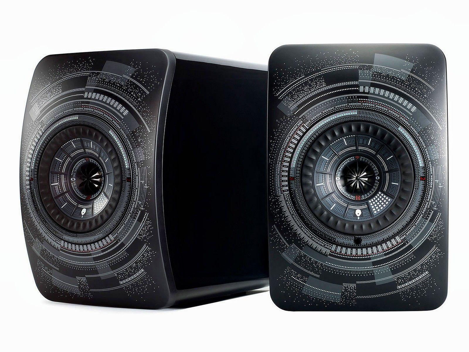 Paire d'Enceintes Actives - KEF LS50 Wireless - Edition Limitée Nocturne, ou Titanium Grey (Hifi-Schluderbacher.de)