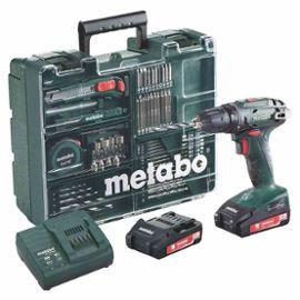 Perceuse-visseuse sans fil Metabo BS 18V - 2 x 2 Ah, Chargeur SC 30, Coffret et Atelier mobile