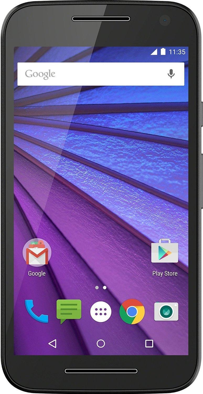 """Smartphone 5"""" Moto G 3ème Génération Blanc ou Noir - 720x1280, Snapdragon 410, RAM 2Go, 16 Go, Android 5.1.1 (via ODR 20€)"""