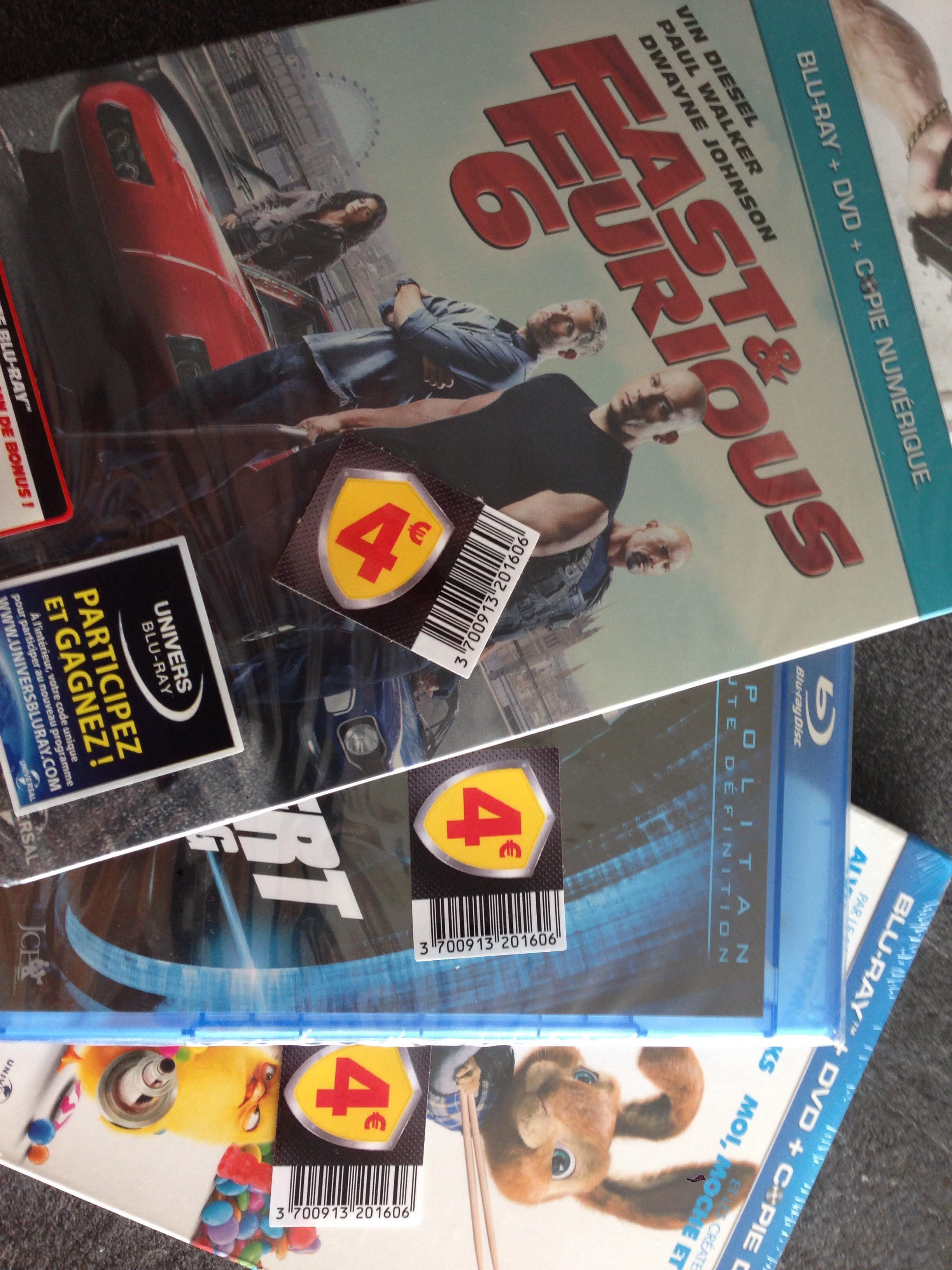 Sélection de plusieurs Blu-ray