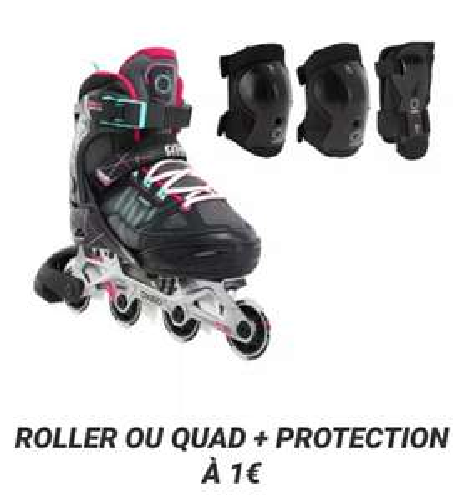 Set de Protections Roller enfant à 1€ pour l'achat de Roller inline ou Quad