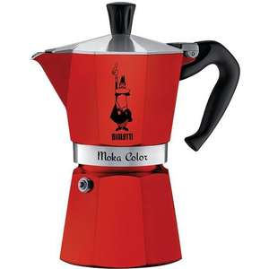 Cafetière Bialetti Moka Express Color - 3 tasses, Rouge