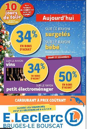 Sélection d'offres promotionnelles - 50% offerts en BA rayon petit électroménager, 34% en BA sur le rayon vins (Bruges-le-Bouscat 33)