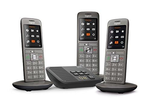 Kit Téléphones fixes sans fil Gigaset CL660A Trio - Répondeur, 3 Combinés, Gris Anthracite