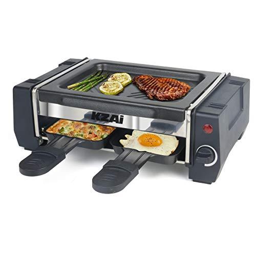 Mini Appareil Raclette avec Spatule en Bois - 2 Personnes , Thermostat Revêtement Antiadhésif, 500W (vendeur tiers)