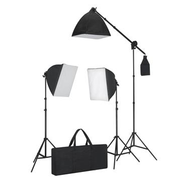 Kit 3 éclairages continus studio photo