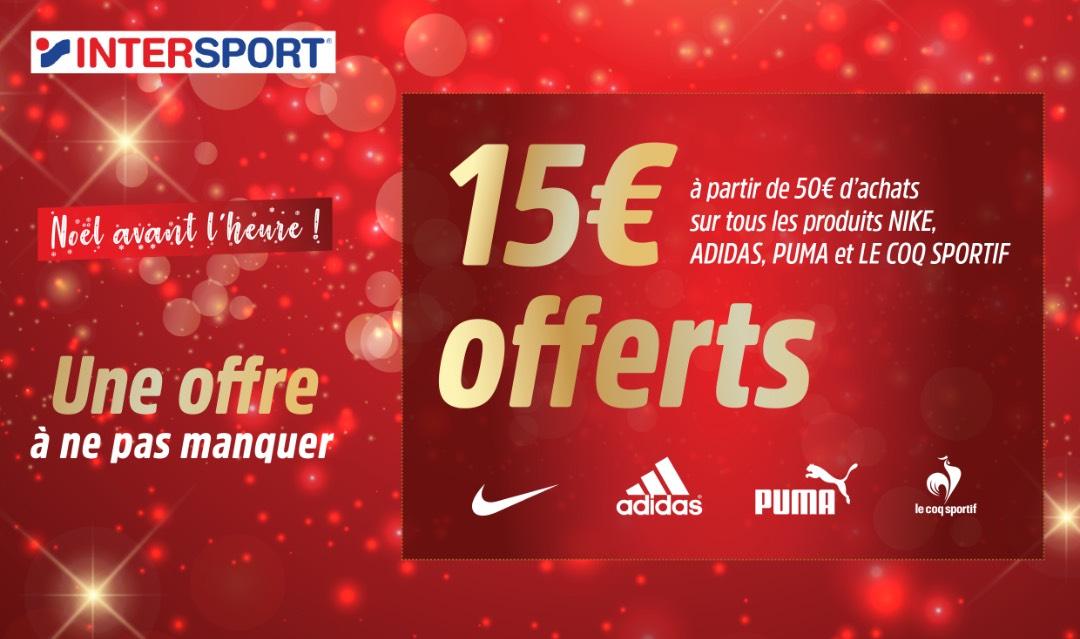[Carte fidélité] 15€ de réduction dès 50€ d'achats (magasins participants)