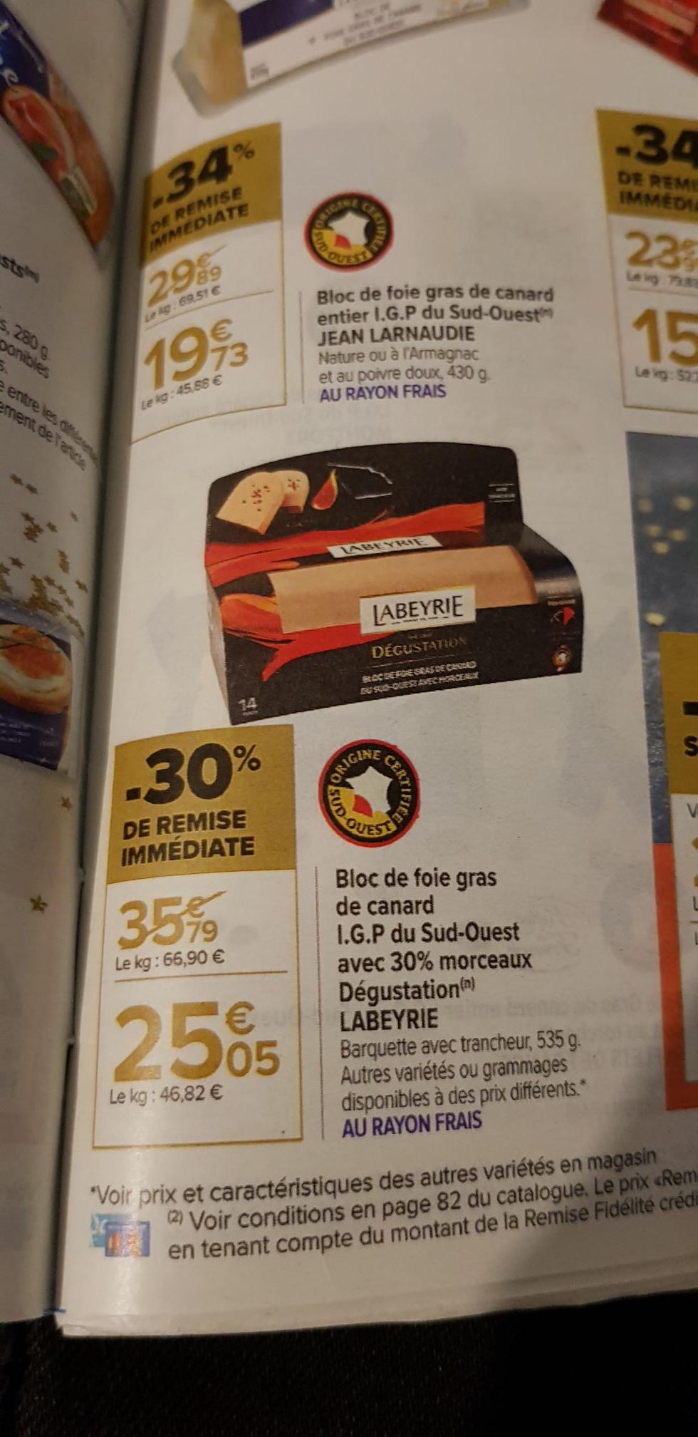 Bloc de foie gras de Canard Labeyrie - 535g