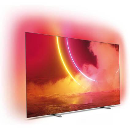 "TV 55"" Philips 55OLED805 - 4K UHD, OLED, Smart TV, Ambilight 3 côtés (Frontaliers Suisse)"