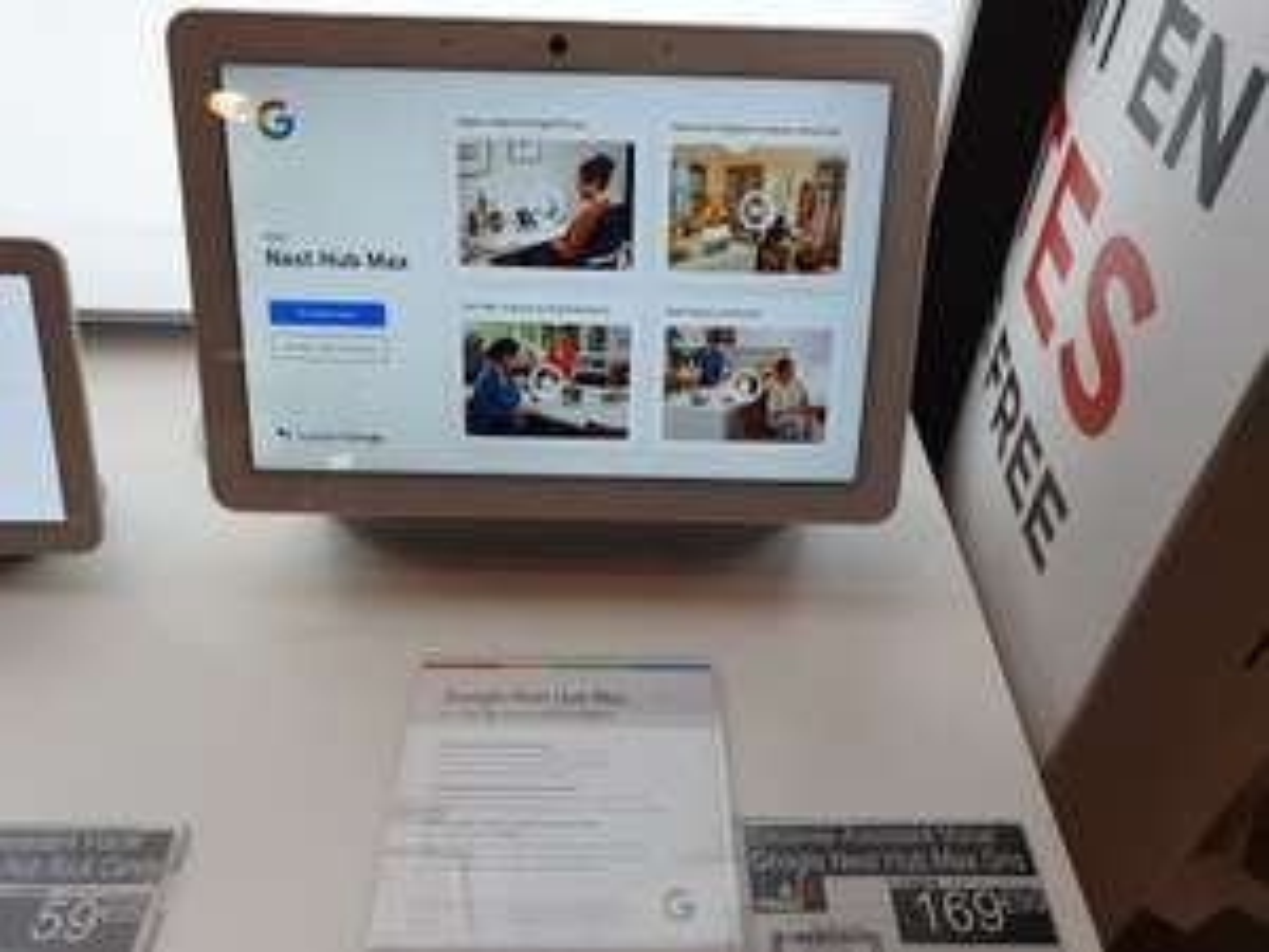 "Enceinte intelligente Google Nest Hub Max Galet 10"" - Evry 2 (91)"