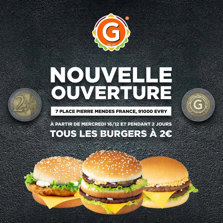 Tous les burgers à 2€ - G La Dalle Evry (91)
