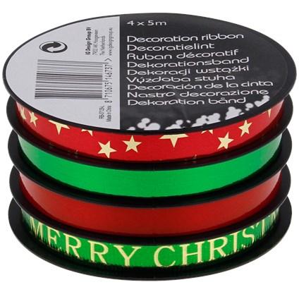Ruban pour emballage cadeau de Noël - Diverses variantes
