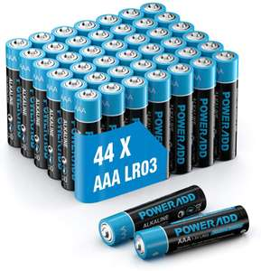 Lot de 44 piles AAA Poweradd (Vendeur Tiers)