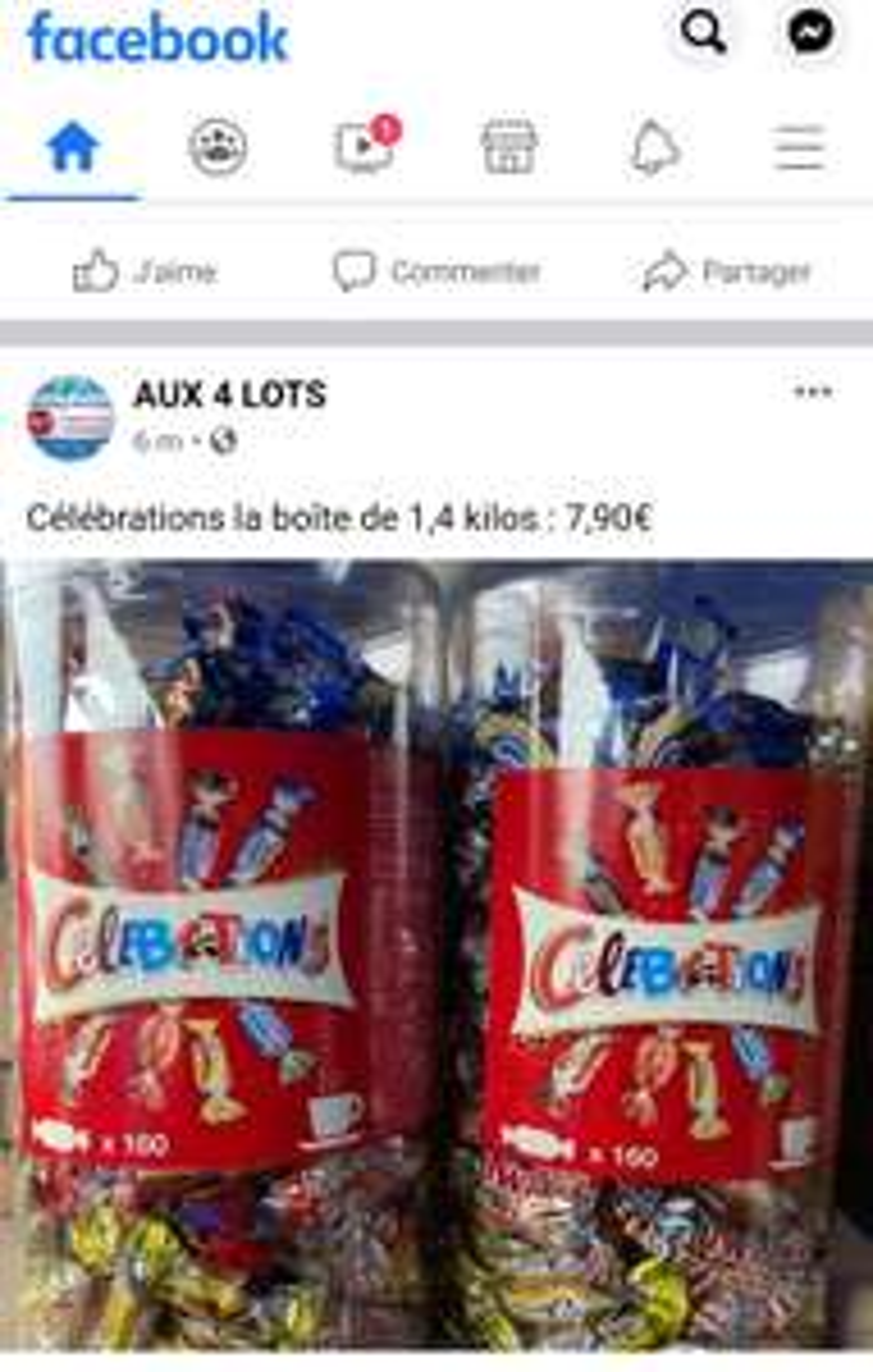 Boite de Chocolats Célébrations 1.4kg - Aux 4 lots Sens (89)