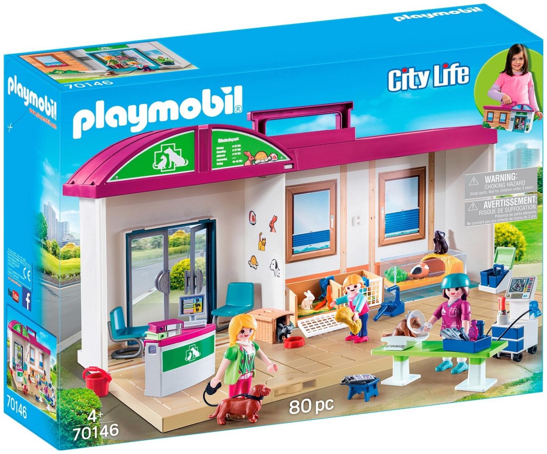 Jouet Playmobil Clinique vétérinaire transportable 70146 (via retrait en magasin)