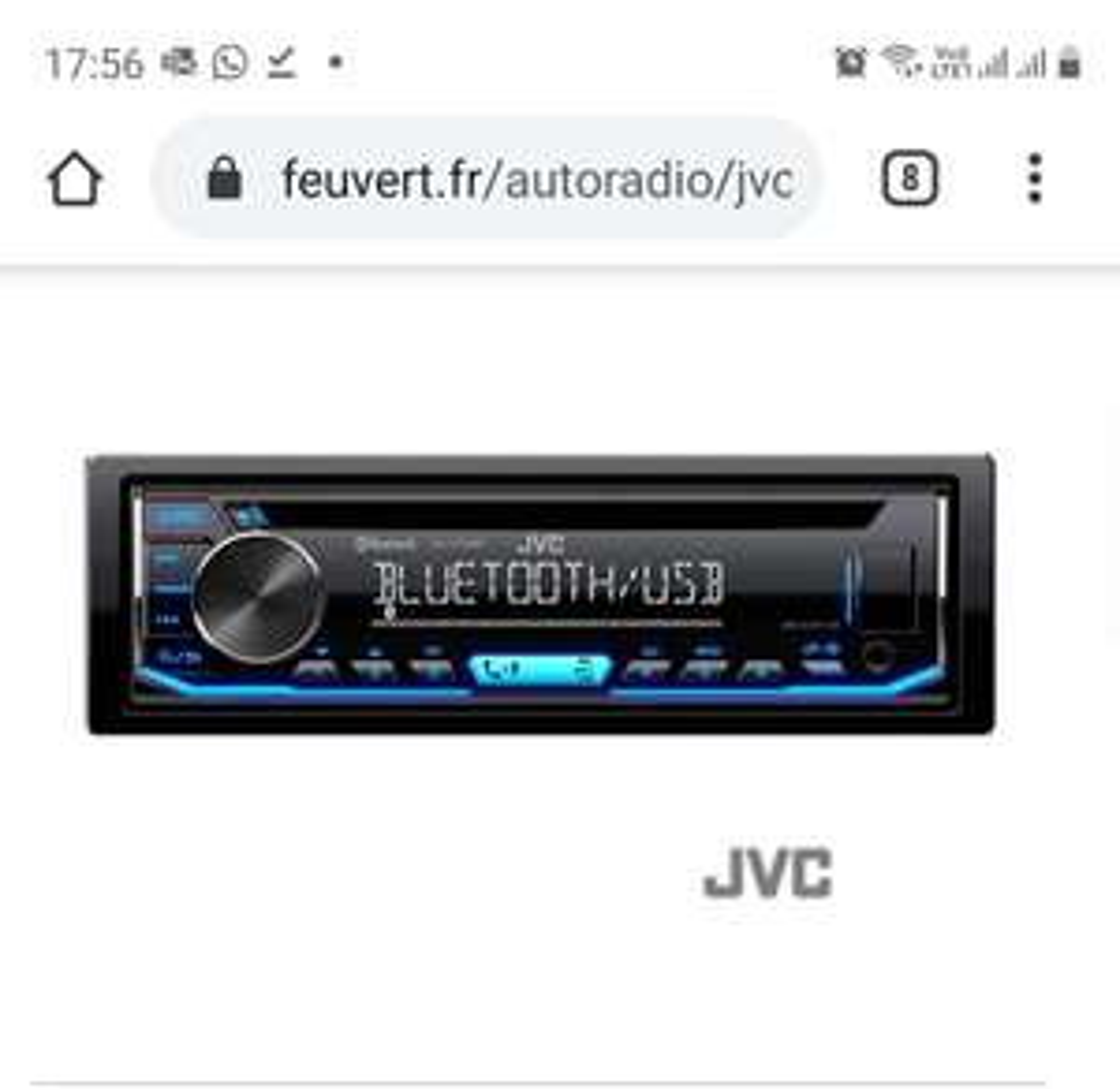 Autoradio JVC KD-T706BT - CD, Bluetooth, USB