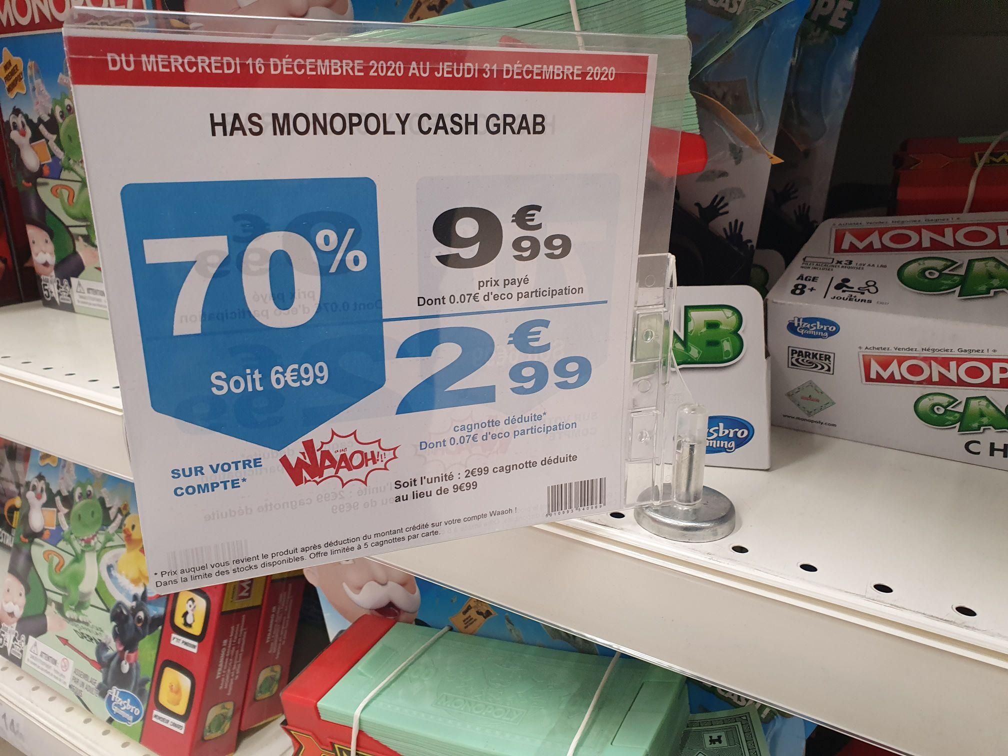Jeu de société Monopoly Crash Grab (Via 6.99€ sur la carte) - Louvroil (59)