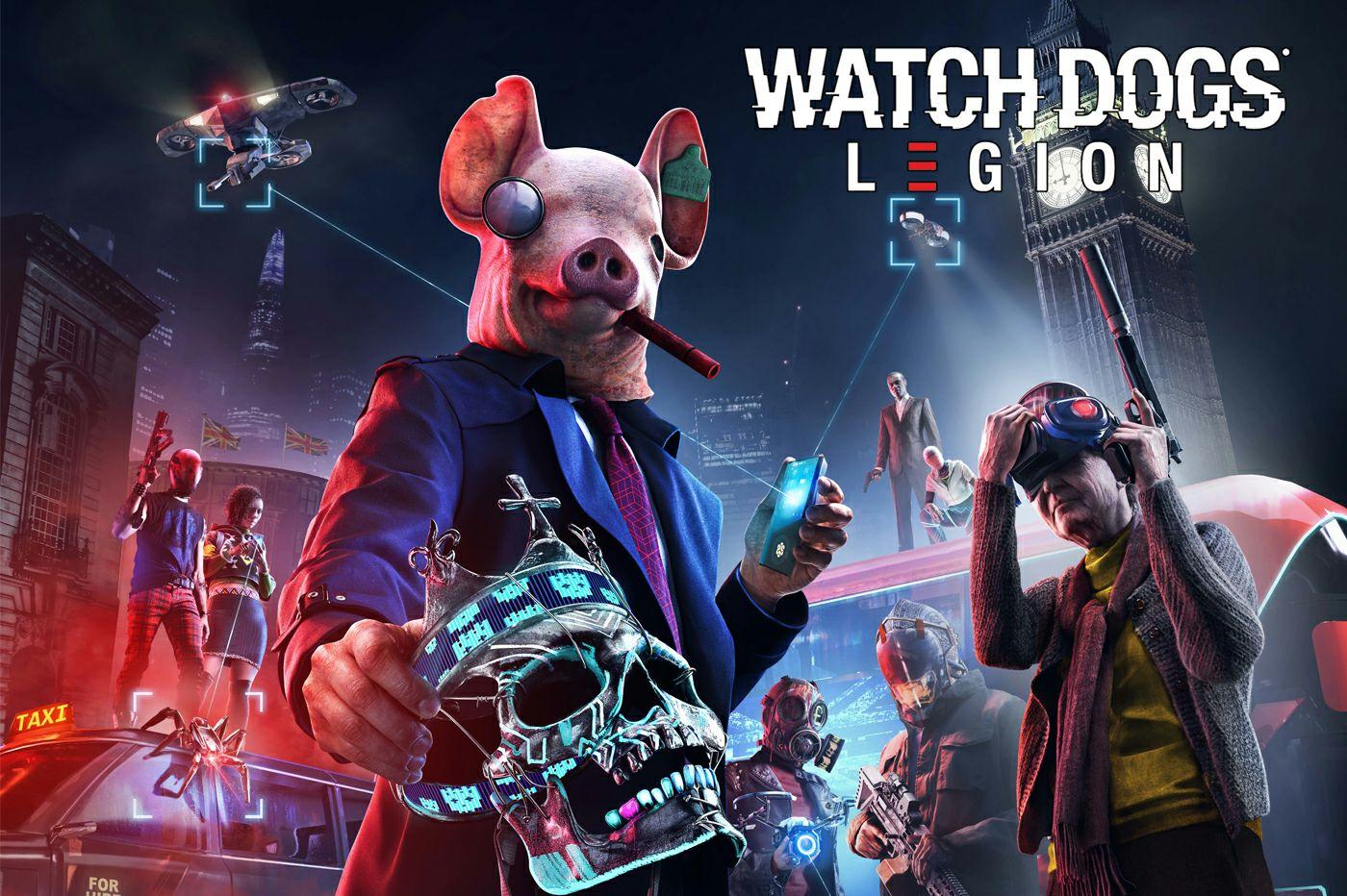 Watch Dogs Legion sur Xbox One (Compatible Series X) ou PS4 + Poster A2 + Porte clef lapins crétins