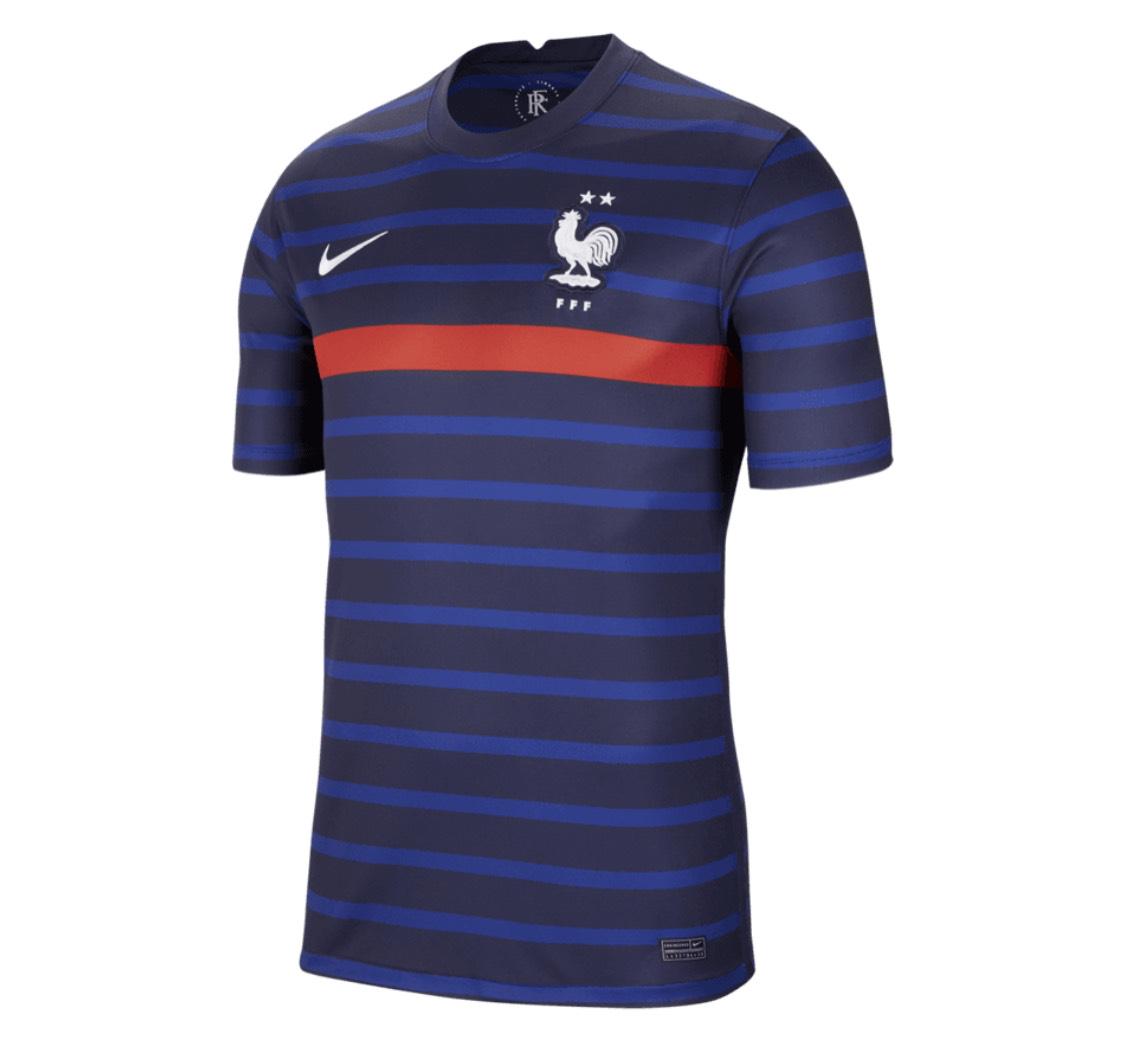 Maillot football domicile Nike France Euro 2020 - S à XXL