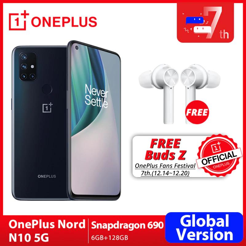 """Smartphone 6.49"""" OnePlus Nord N10 5G - 6 Go de Ram, 128 Go"""